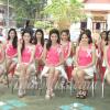 ผู้เข้ารอบสุดท้าย ๒๐ คน นางสาวลำพูน ๒๕๕๔ ณ ศาลากลางจังหวัดลำพูน (วันที่ ๙ ธันวาคม ๒๕๕๔)